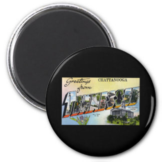Greetings from Chattanooga Tennesee 6 Cm Round Magnet