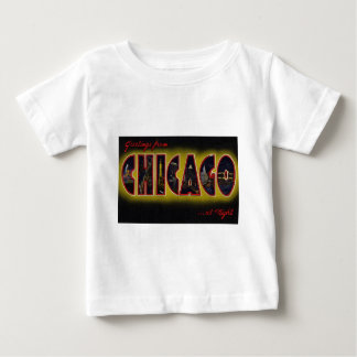 Greetings from Chicago Illinois At Night Baby T-Shirt