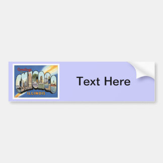 Greetings From Chicago Illinois Bumper Sticker