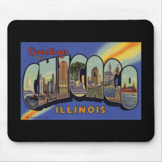 Greetings from Chicago Illinois Mouse Pad