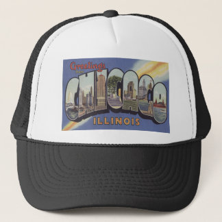 Greetings from Chicago Large Letter vintage theme Cap