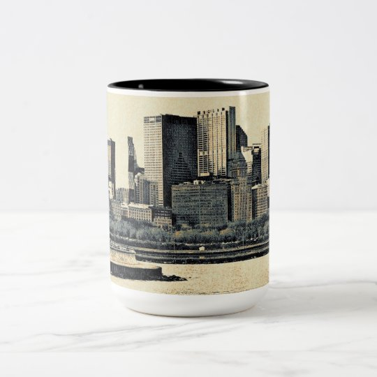 Greetings from Chicago Two-Tone Coffee Mug