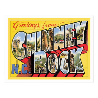 Greetings From Chimney Rock North Carolina Postcard