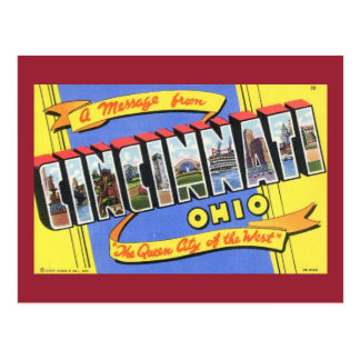 Greetings from Cincinnati, Ohio Vintage Postcard
