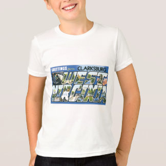 Greetings from Clarksburg, West Virginia! Retro T-Shirt