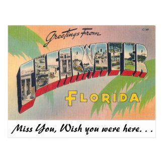 Greetings from Clearwater, Florida Postcards