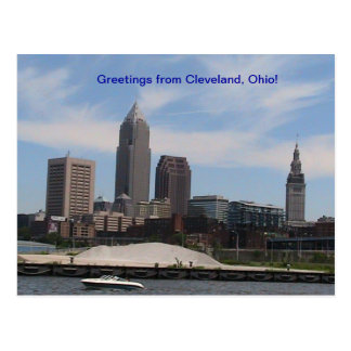 Greetings from Cleveland Ohio (Skyline) Postcard