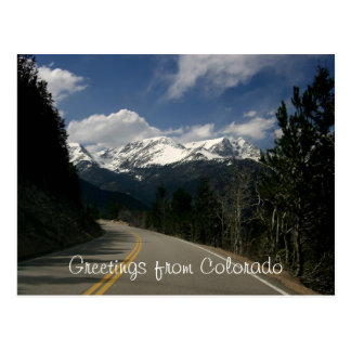 Greetings from Colorado Postcard