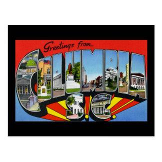 Greetings from Columbia South Carolina Postcard