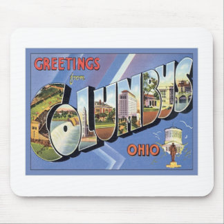 Greetings From Columbus Ohio Mouse Pad