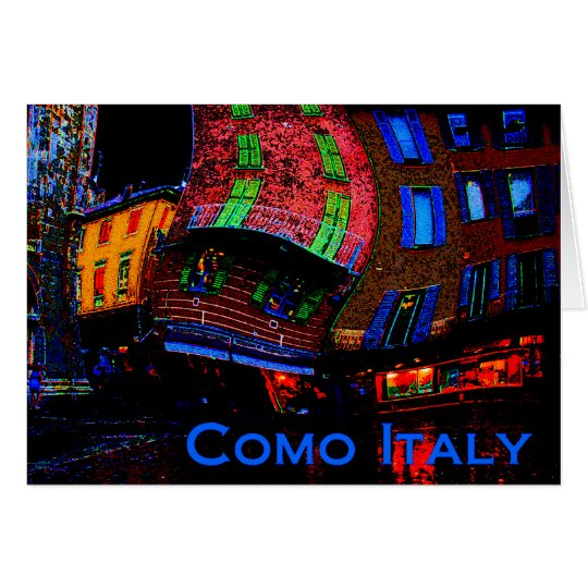Greetings from Como Italy Card