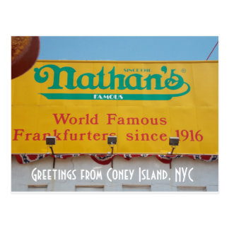 Greetings from Coney Island, NYC 1 Postcard