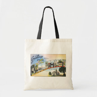 Greetings From Connecticut, Vintage Tote Bag