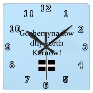 Greetings from Cornwall in Cornish Language Wallclock