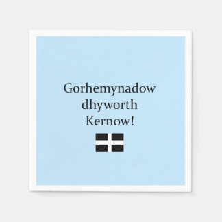 Greetings from Cornwall in Cornish Language Paper Napkin