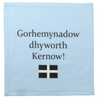Greetings from Cornwall in Cornish Language Printed Napkin