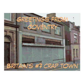 Greetings from Coventry postcard