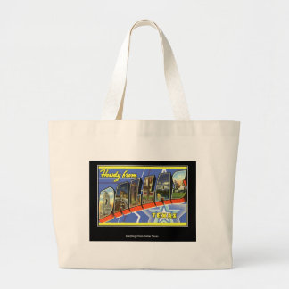 Greetings from Dallas Texas Canvas Bags