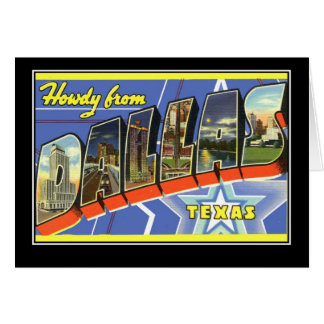 Greetings from Dallas Texas Greeting Card