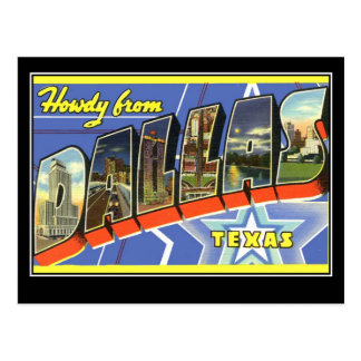 Greetings from Dallas Texas Postcard