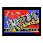Greetings from Dallas Texas Postcards