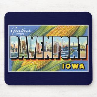 Greetings from Davenport, Iowa! Mouse Mat