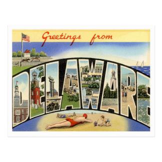 Greetings From Delaware Postcard
