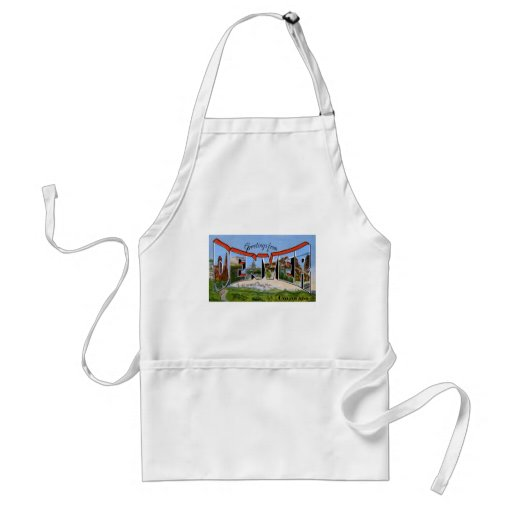 Greetings from Denver Colorado Adult Apron