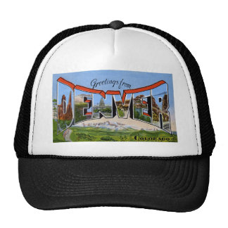 Greetings from Denver Colorado Hats