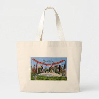 Greetings from Denver Colorado Large Tote Bag
