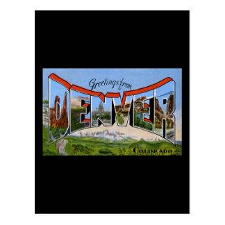 Greetings from Denver Colorado Postcard