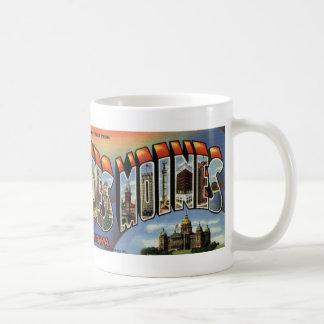 Greetings from Des Moines Vintage Postcard Mug