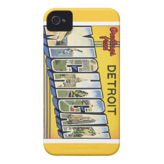 Greetings From Detroit Michigan Case-Mate iPhone 4 Case