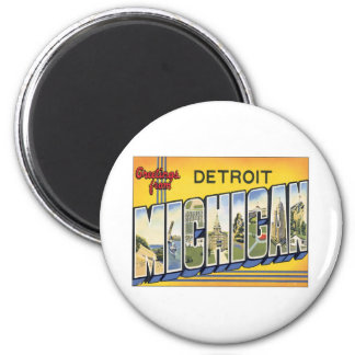 Greetings From Detroit Michigan Fridge Magnet