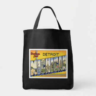 Greetings From Detroit Michigan Bags