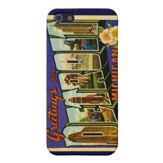 Greetings from Detroit Michigan Vintage iPhone 5 Cover