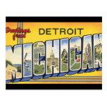 Greetings from Detroit Michigan_Vintage Travel Postcard