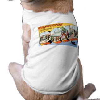 Greetings from Dover, Delaware! Sleeveless Dog Shirt
