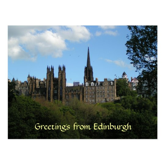 Greetings from Edinburgh postcard