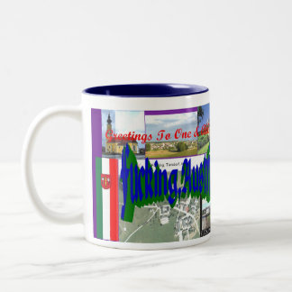 Greetings from F*cking, Austria Two-Tone Mug
