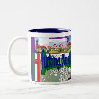 Greetings from F*cking, Austria Two-Tone Coffee Mug