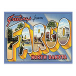 Greetings From Fargo North Dakota Postcard