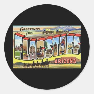 Greetings from Flagstaff Arizona Round Sticker