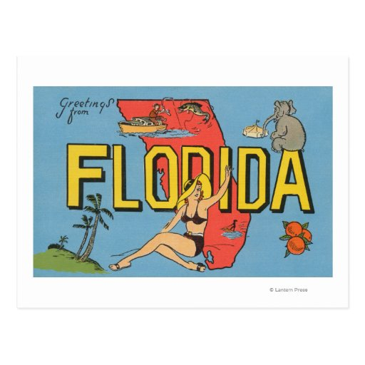Greetings from Florida (Blue)Florida Postcard