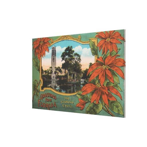 Greetings from Florida the Sunshine State Gallery Wrapped Canvas