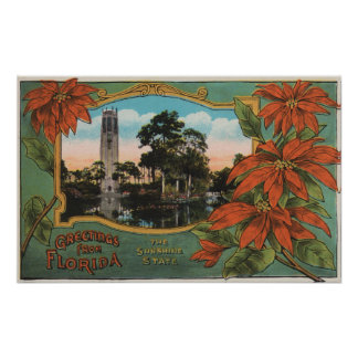 Greetings from Florida the Sunshine State Print