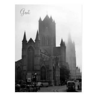 Greetings from Foggy Gent Postcard