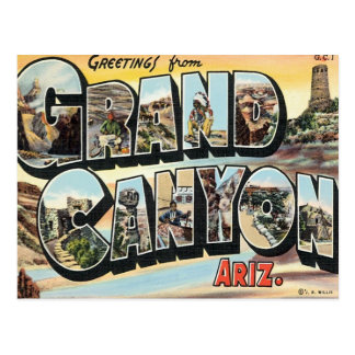 Greetings From Grand Canyon Arizona Postcard