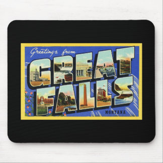 Greetings from Great Falls Montana Mouse Pad