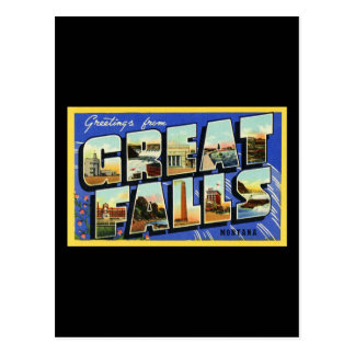 Greetings from Great Falls Montana Postcard